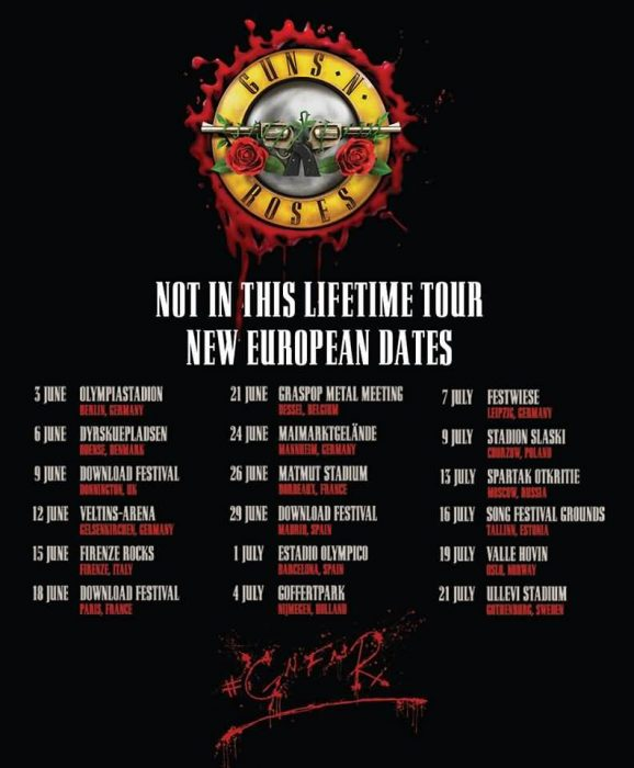 Not In This Lifetime Tour 2018 Guns N Roses Gönnen Sich Erneut