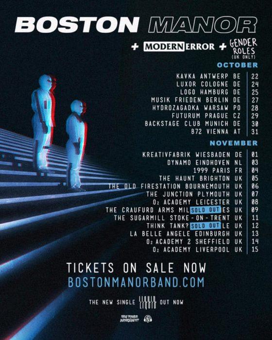 Boston Manor - Tour
