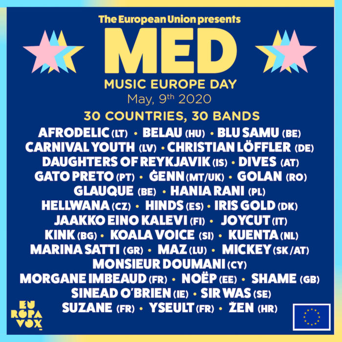 Line Up des Music Europe Day 2020