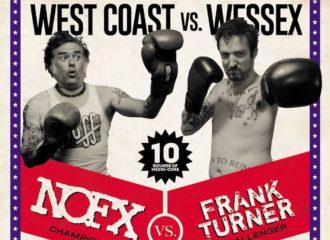 """Cover von Frank Turners und NOFX Split-Album """"West Coast Vs. Wessex"""""""