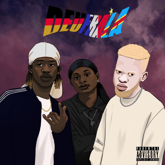 """Das Cover der EP """"DEUFRALA"""" von Albi X, Christ D.Q und Melo."""