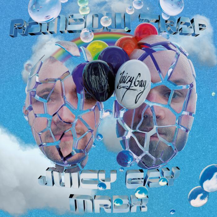 """Review: Juicy Gay und mrbx laden in ihre """"Rainbow Trap"""", eine – zumindest meist – kunterbunte Utopie des Optimismus."""